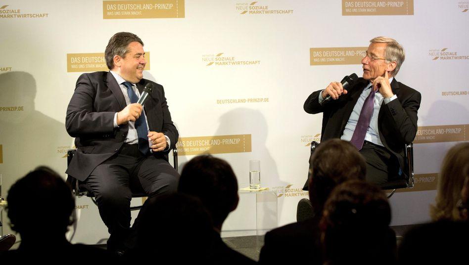 SPD-Chef Gabriel, Ex-Minister Clement: Ein bisschen Resozialisierung