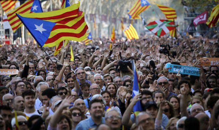 Jubel in Barcelona nach Unabhängigkeitsvotum des Regionalparlaments