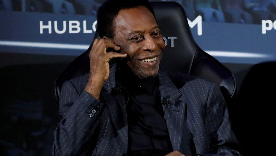 Pelé im April 2019 in Paris: Er habe einige gute und einige weniger gute Tage,schrieb das brasilianische Fußballidol