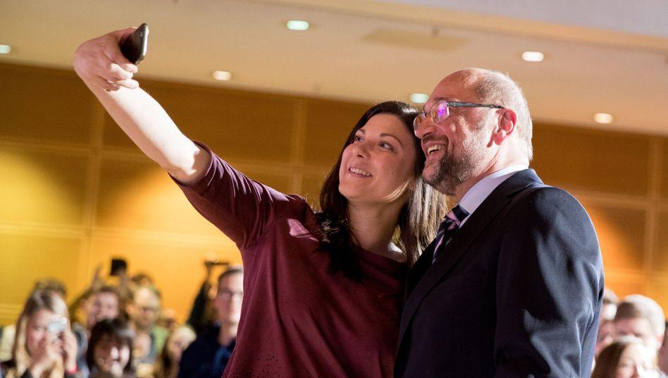 SPD-Kanzlerkandidat Martin Schulz, Juso-Chefin Johanna Uekermann