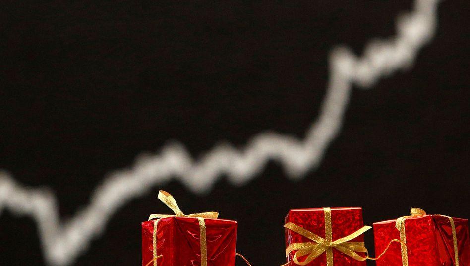 Weihnachtsdeko an der Frankfurter Börse: 25 Prozent Plus in diesem Jahr