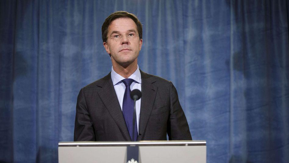 Regierungschef Rutte: Im Land wächst die Skepsis gegenüber der EU