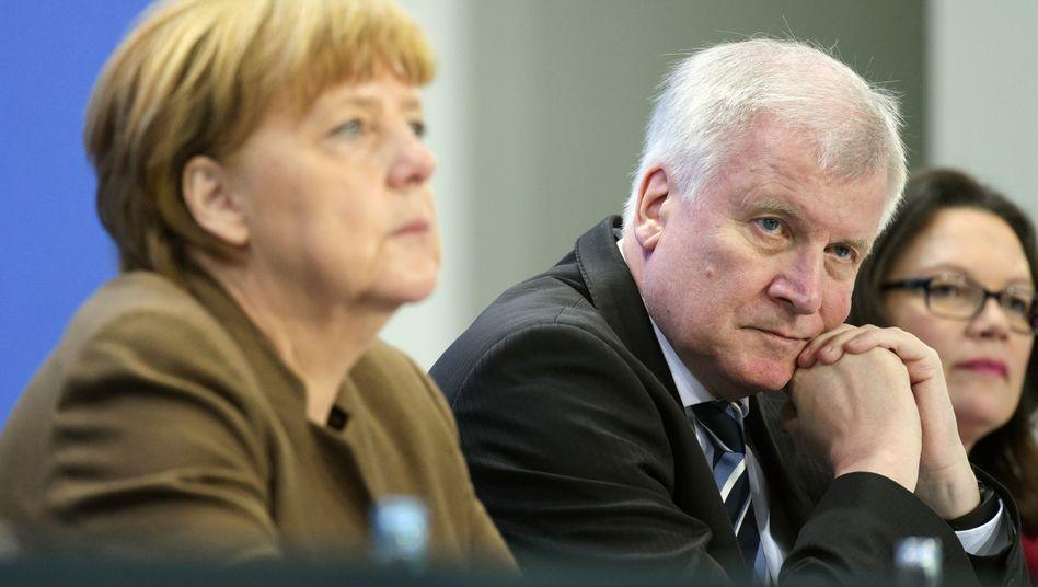 Angela Merkel, Horst Seehofer, Andrea Nahles (v.l.)