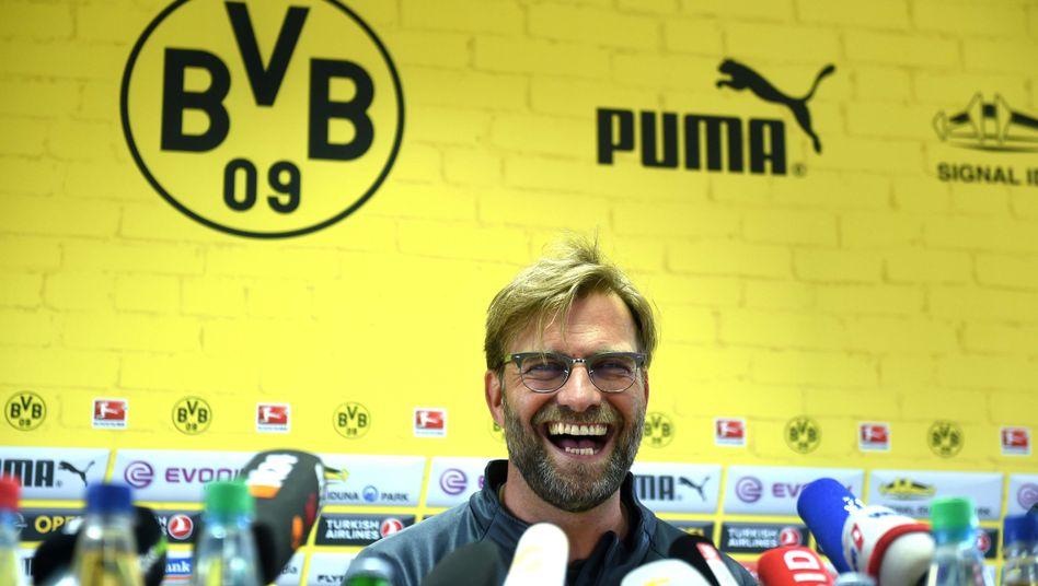 BVB-Trainer Klopp: Noch kann er lachen