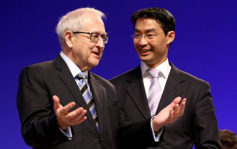 Rainer Brüderle (links), Philipp Rösler