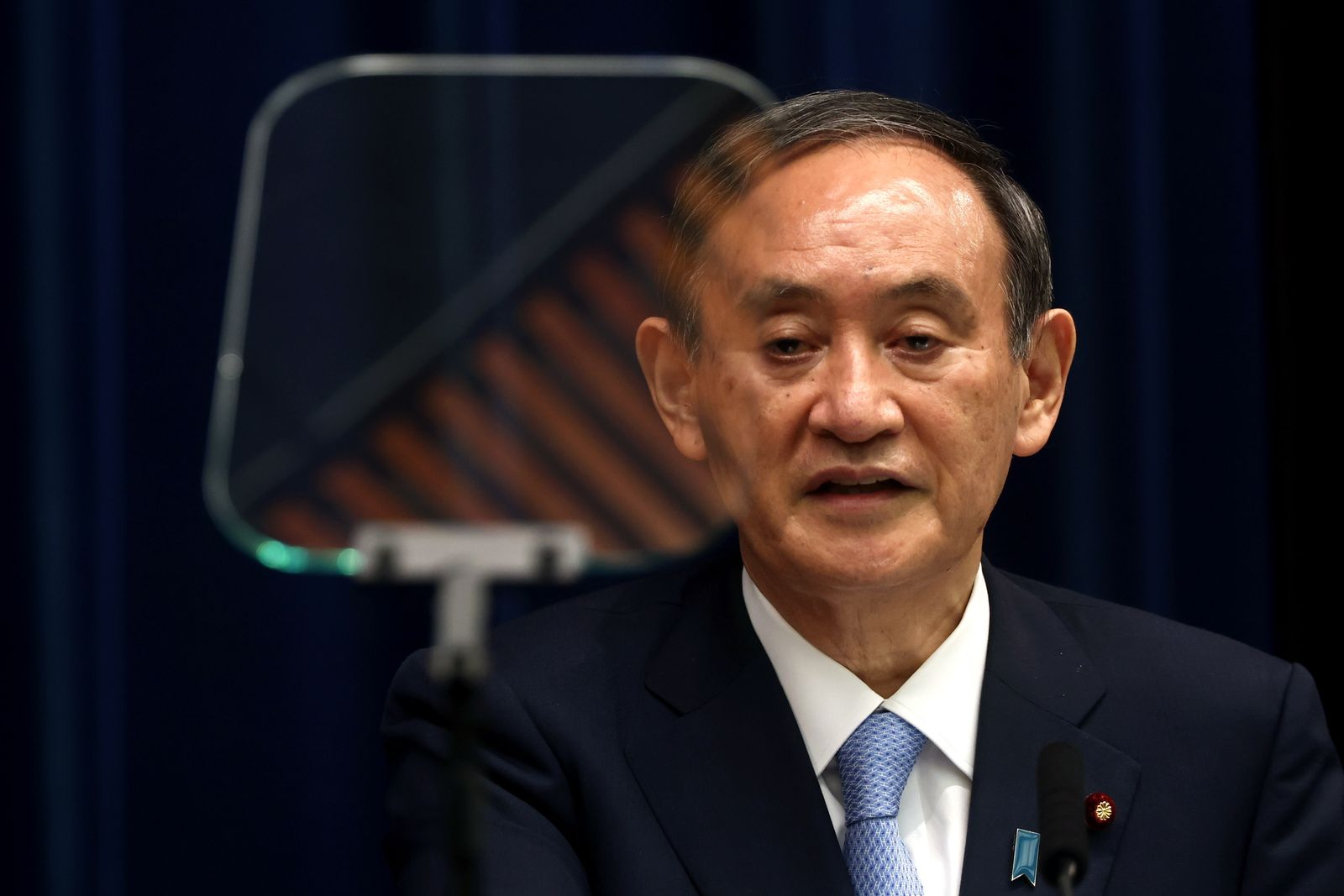 Japanese Prime Minister Suga's press conference on expanded coronavirus state of emergency