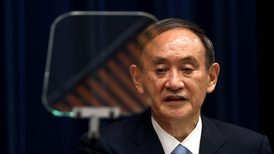 Japans Regierungschef Yoshihide Suga