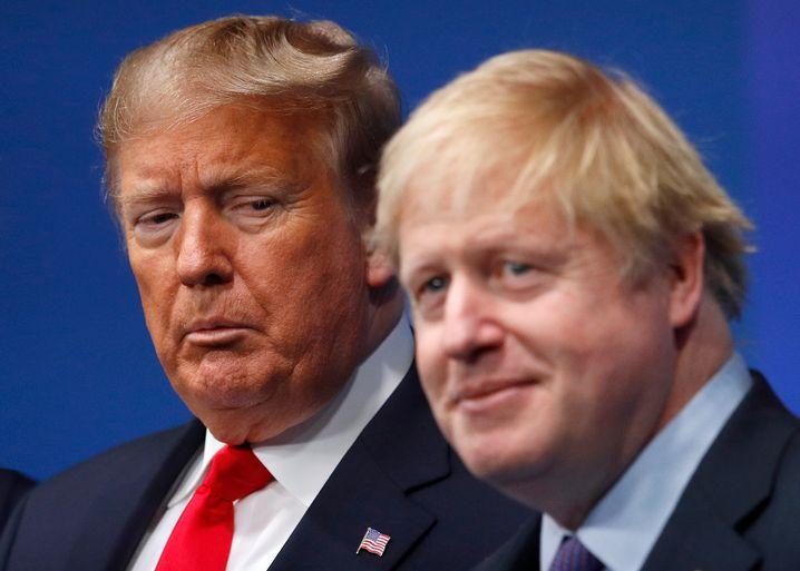 """Donald Trump und Boris Johnson: """"Bei beiden gibt es möglicherweise eine Neigung dazu, alte Strukturen mit Gewalt aufzubrechen."""""""