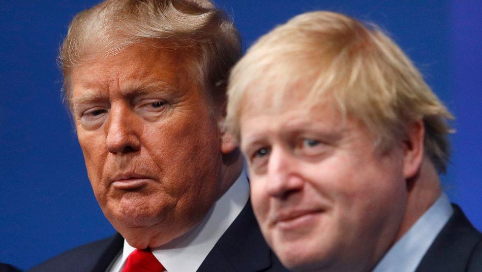 Virenversteher Donald Trump und Boris Johnson