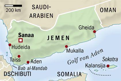 Karte des Jemen ansehen