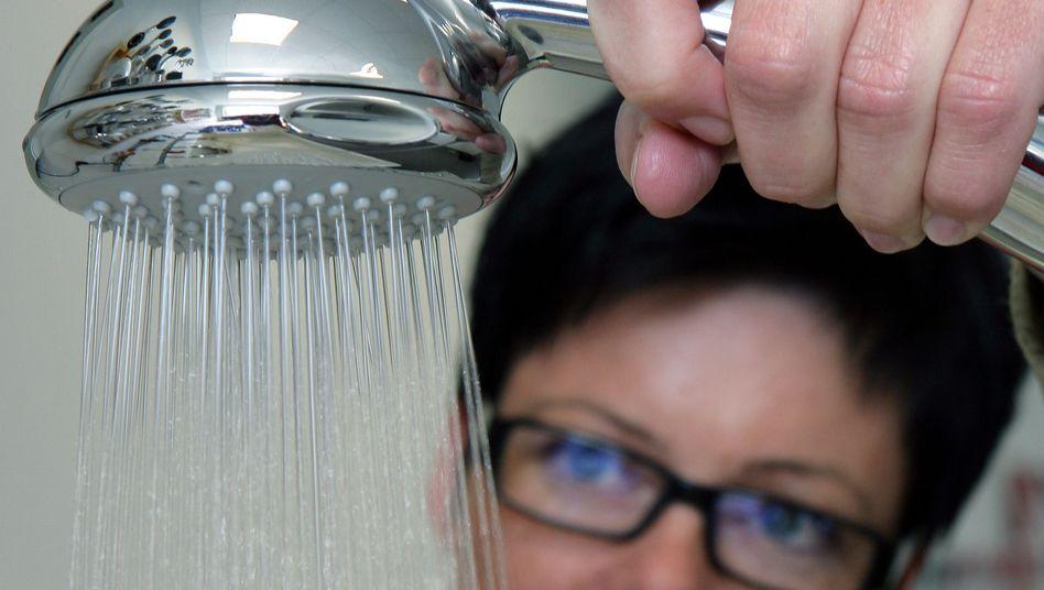 Wassersparender Duschkopf: Je weniger Wasser, desto weniger Energie