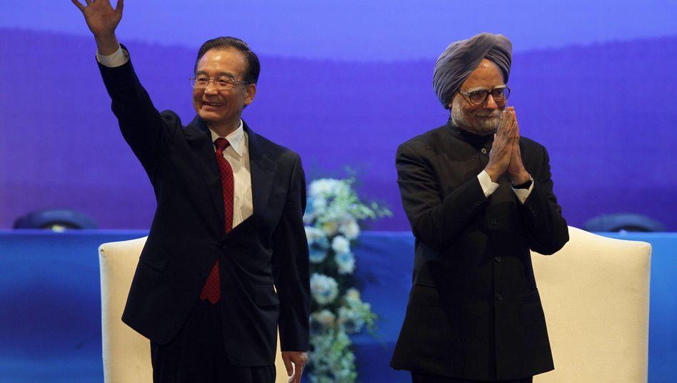 """Wen Jiabao, Manmohan Singh: """"Der Drache und der Elefant sollten Tango tanzen"""""""