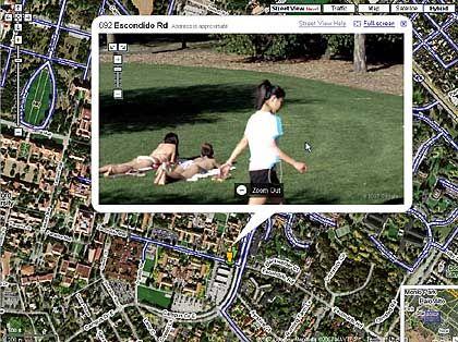 Street-View-Screenshot: Einmal im Netz, für immer in der Welt