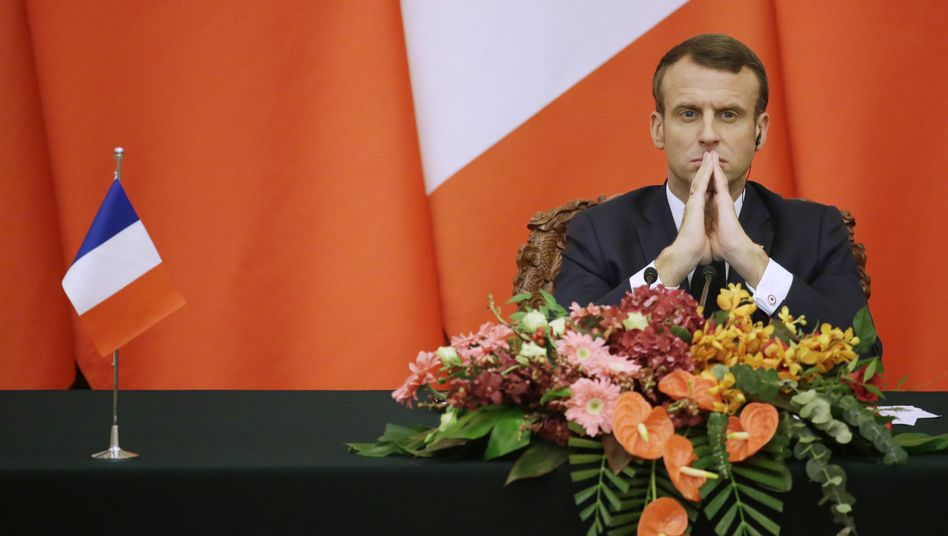 Frankreichs Präsident Emmanuel Macron hat in einem Interview der Nato eine katastrophales Zeugnis ausgestellt