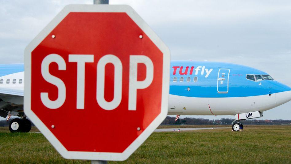 TUIFly-Maschine am Flughafen Hannover
