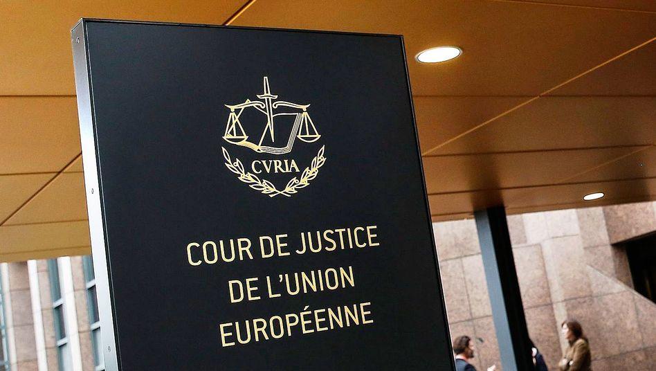 Der Eingang zum Europäischen Gerichtshof in Luxemburg (Archivbild von 2015)