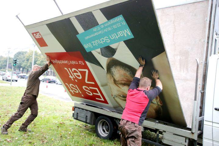 SPD-Wahlplakat nach der Bundestagswahl