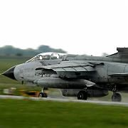 Armed with video cameras: This Tornado fighter jet could soon be flying recon missions over the southern skies of Afghanistan in support of Germany's embattled NATO allies there.