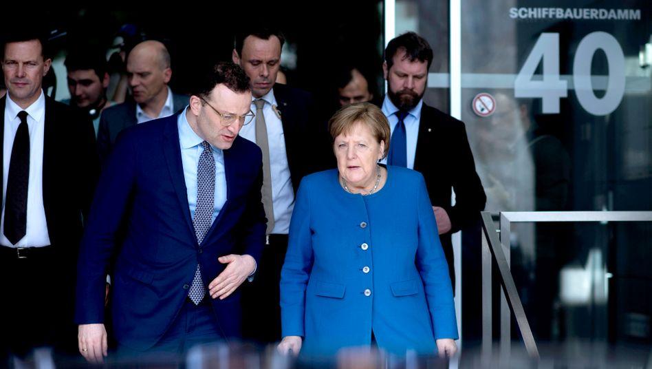 Bundeskanzlerin Merkel, Gesundheitsminister Spahn