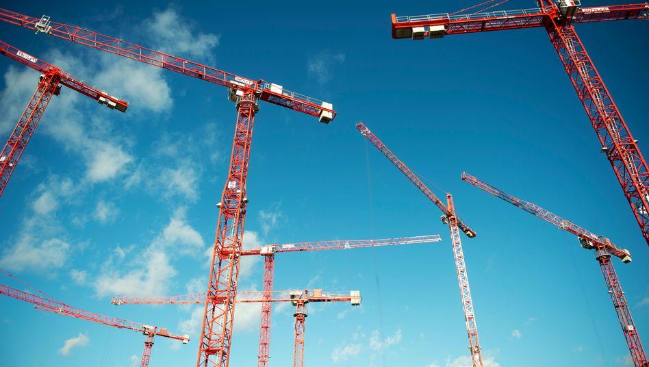 Baukräne in Berlin: Kein Spielraum mehr für die große Konjunktur-Kanone
