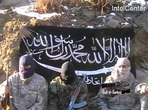 """Standbild aus dem neuen Terrorvideo: """"Überraschungspakete an die Besatzungsmächte"""""""