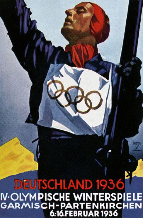 Olympia-Plakat: Der rechte Arm ragte aus dem Bild