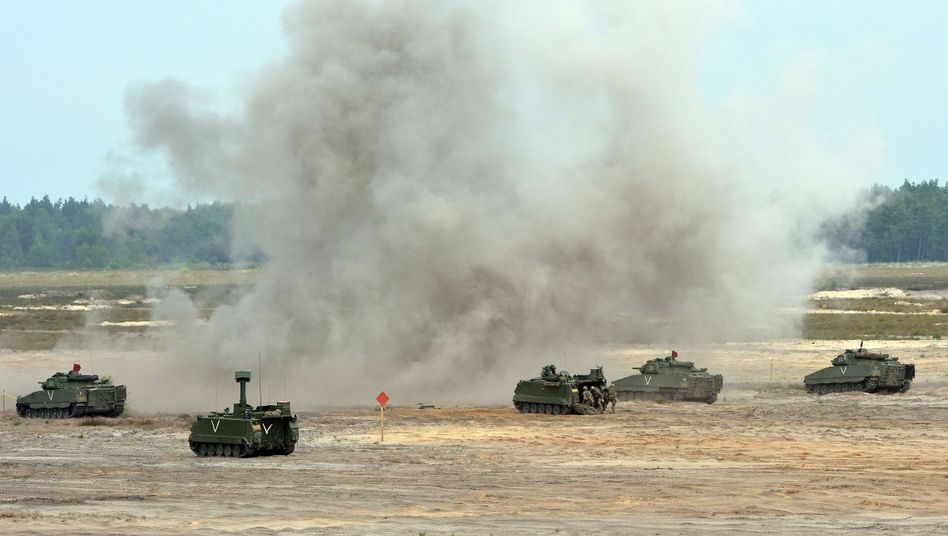 A NATO maneuver in Poland in June