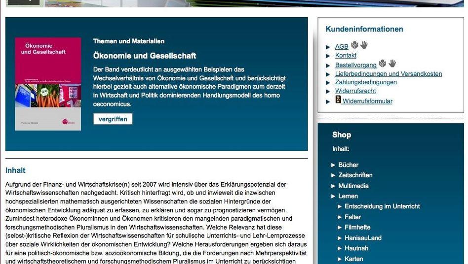 """Noch """"vergriffen"""": das Unterrichtsbuch """"Ökonomie und Gesellschaft"""""""
