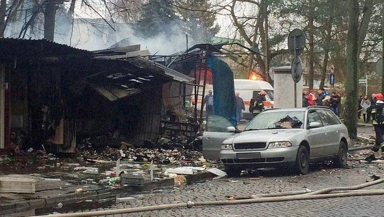 """Ausgebrannter Verkaufsstand: """"Wie nach einem Bombenanschlag"""""""