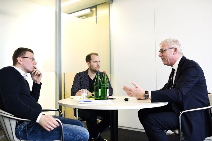 Lenders im Gespräch mit SPIEGEL-ONLINE-Redakteuren
