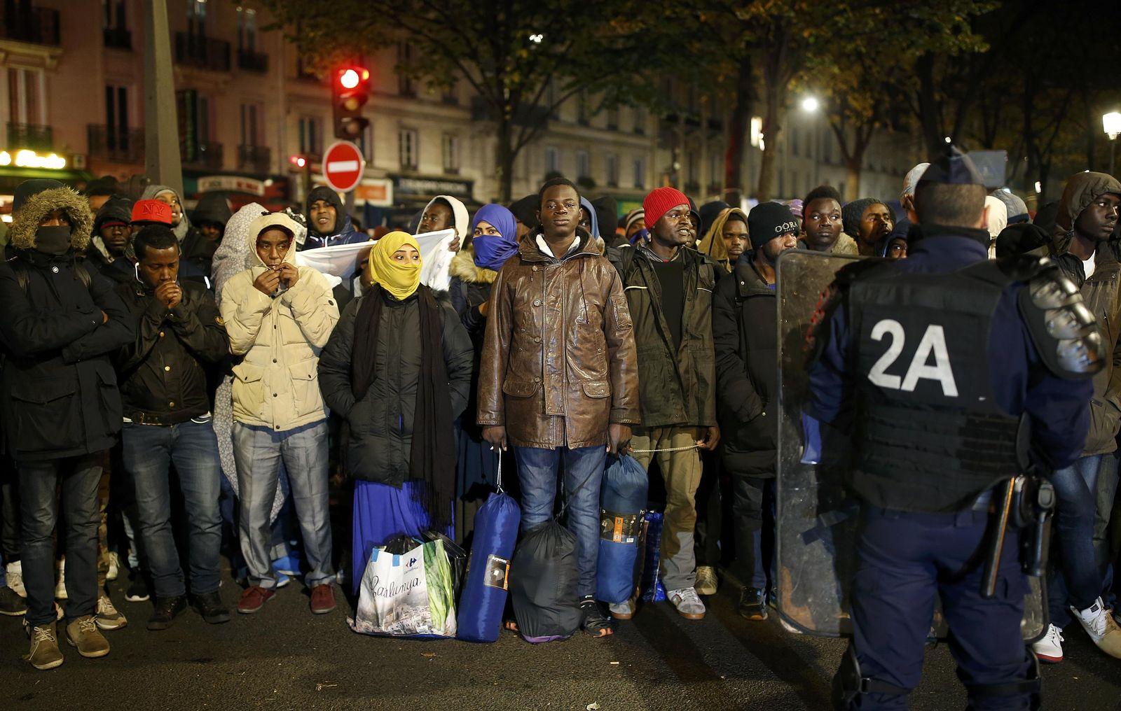 Flüchtlingslager in Paris