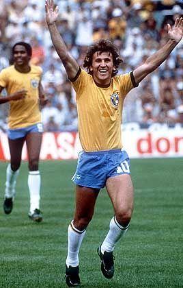 Brasiliens WM-Star Zico (1982, beim 3:1-Sieg gegen Argentinien): Am Ende stand die Depression