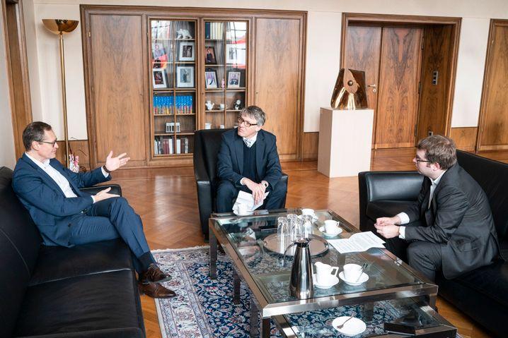 """Müller mit SPIEGEL-Redakteuren: """"Die Frage nach der Spitzenkandidatur stellt sich auf dem kommenden Parteitag nicht"""""""