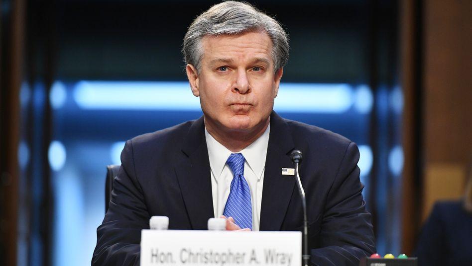 FBI-Chef Wray: »Kriminelles Verhalten, schlicht und einfach«