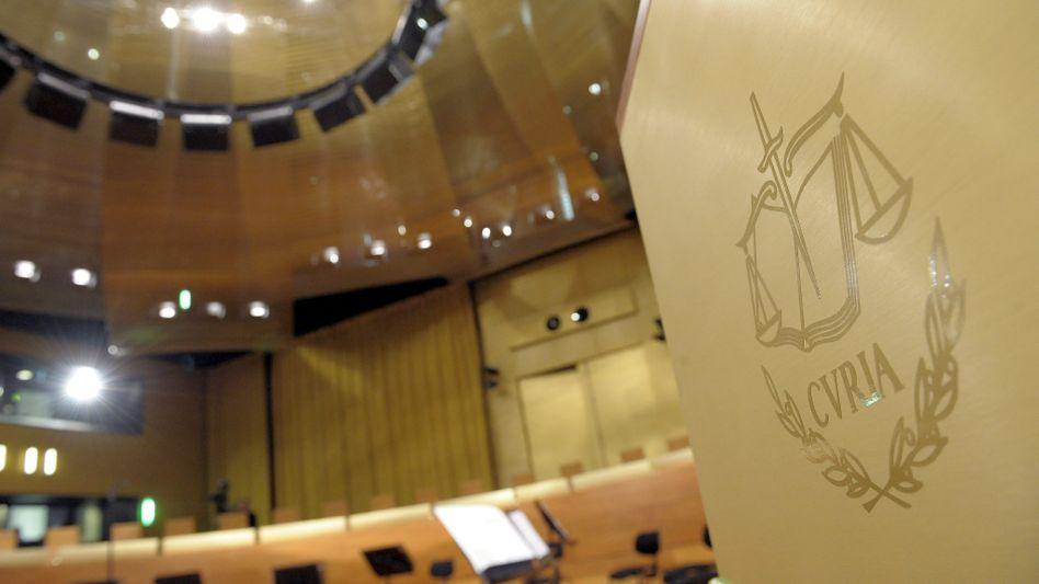 Blick in den Saal des EuGH (Archivbild): Grundsatzurteil