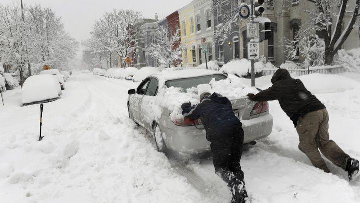 Schneesturm: Washington in Weiß