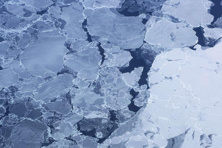 Arktisches Eis (hier vor Ellesmere Island, Kanada) auf einem Archivbild