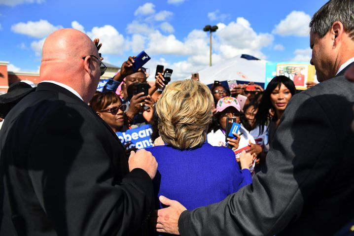 Clinton, Personenschützer in Lauderhill, Florida