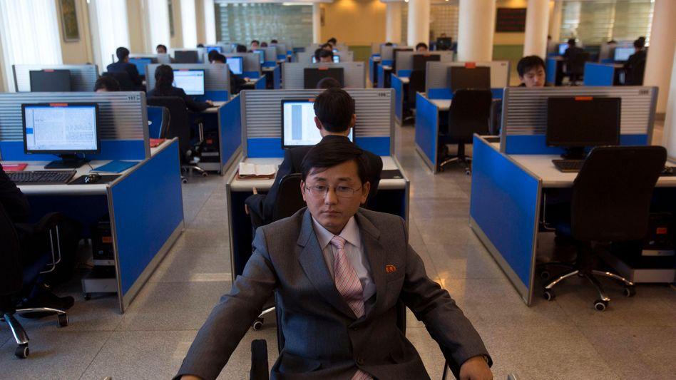 Internetraum an einer Universität in Pjöngjang: US-Spione in Nordkoreas Rechnern?