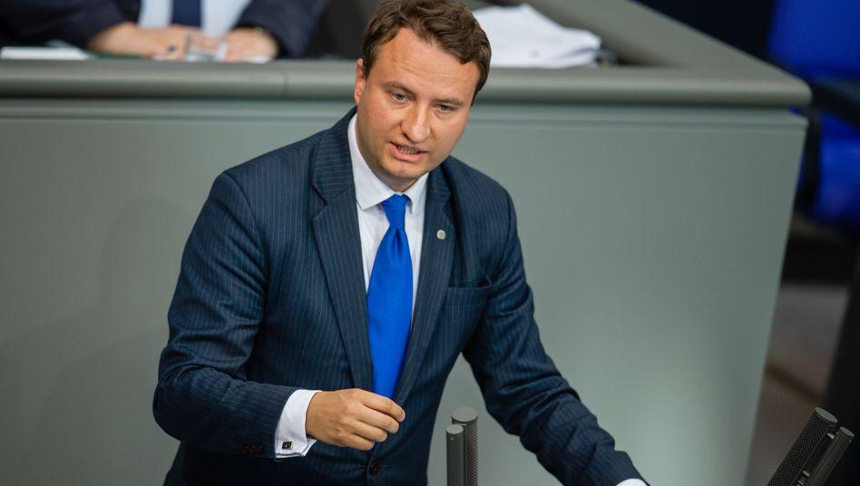 Ex-CDU-Abgeordneter Hauptmann bei einer Bundestagsrede 2019