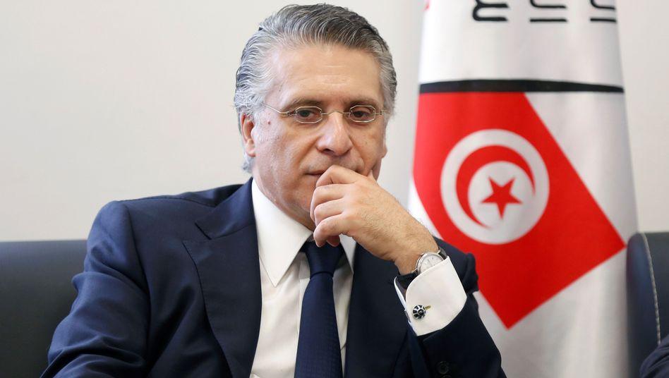 Medienunternehmer und Präsidentschaftskandidat Nabil Karoui in Tunis