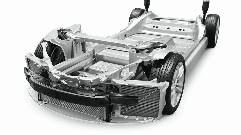 Chassis des Tesla Model S