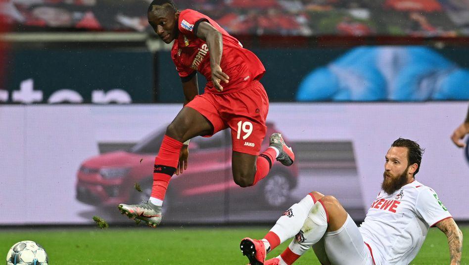 Gegen Köln nicht zu stoppen: Leverkusen Moussa Diaby(l.)