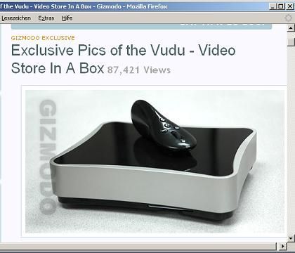 Vudu-Box (Screenshot von Gizmodo.com): Bisher sind keine offiziellen Bilder veröffentlicht worden