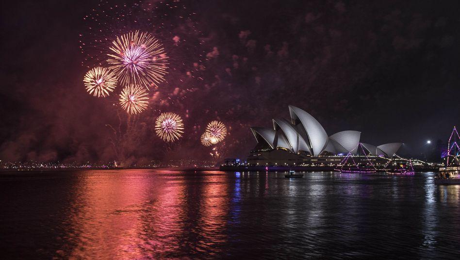 Silvesterfeuerwerk in Sydney Anfang 2019: Raketen, allen Umständen zum Trotz