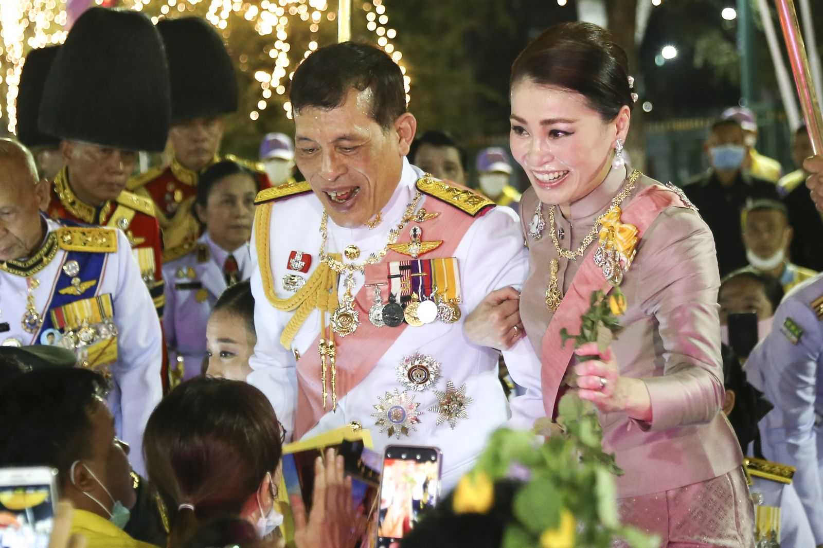 Thai King Maha Vajiralongkorn Bodindradebayavarangkun at the anniversary ceremony for late Thai King Chulalongkorn in Bangkok., Thailand - 16 Oct 2020