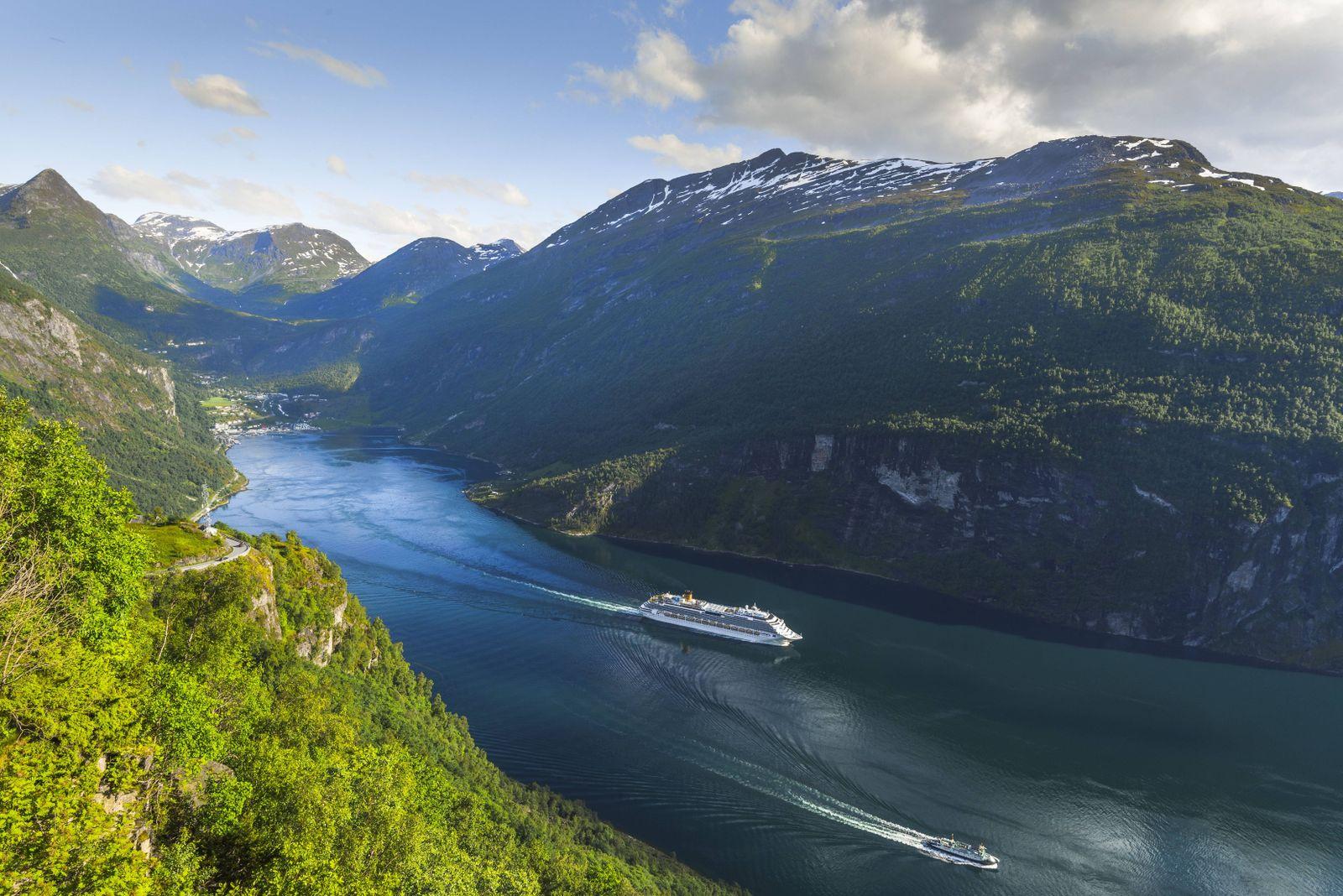 EINMALIGE VERWENDUNG Geiranger/ Fjord/ Norwegen