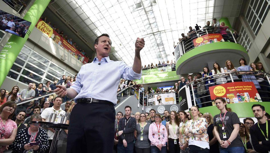 Wahlkampfauftritt von Premier Cameron: Volksabstimmung über EU-Austritt angekündigt