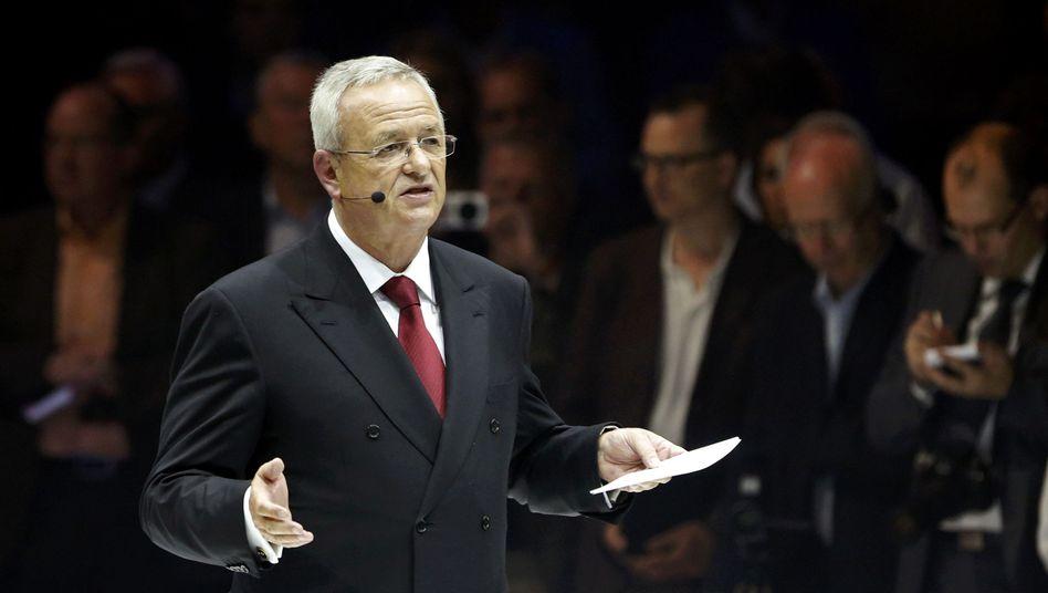 """VW-Chef Winterkorn: """"Ob wir das hinkriegen, weiß ich noch nicht"""""""