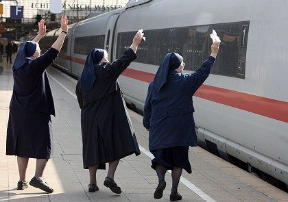 Wave bye-bye to the privatization of German rail.